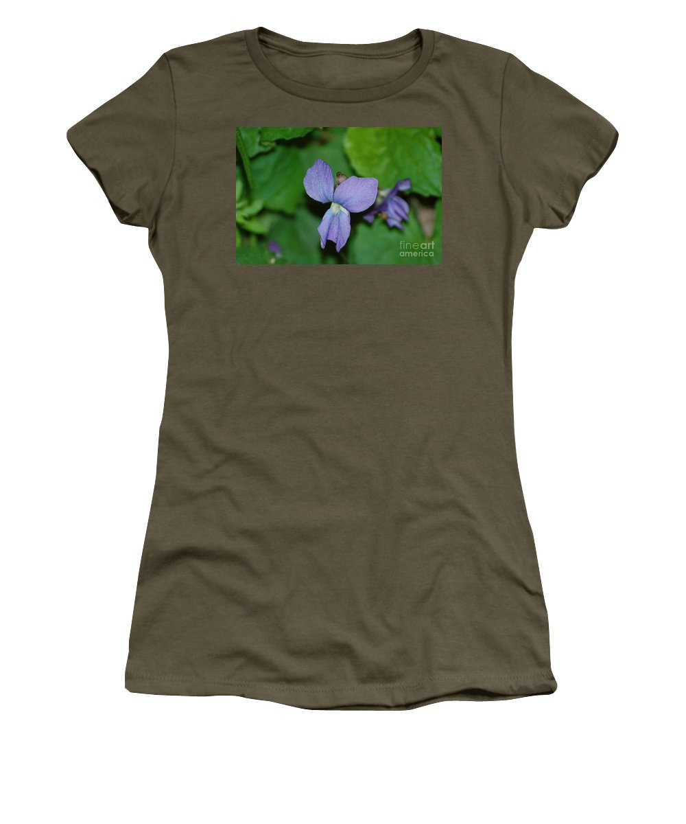 Landscape Women's T-Shirt (Athletic Fit) featuring the photograph Violet by David Lane