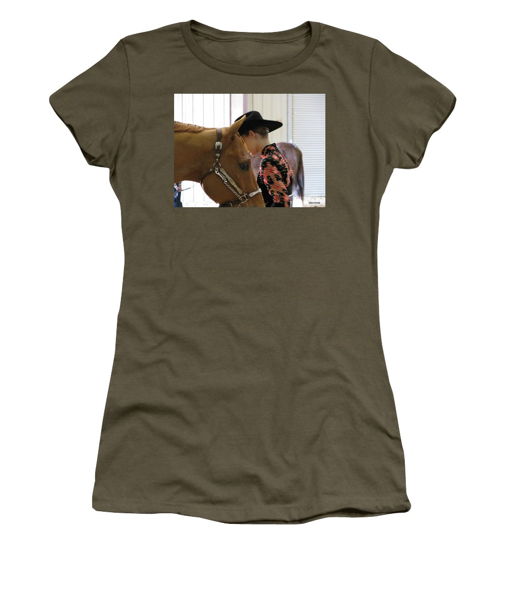 Patzer Women's T-Shirt featuring the photograph You Pray I Pray by Greg Patzer