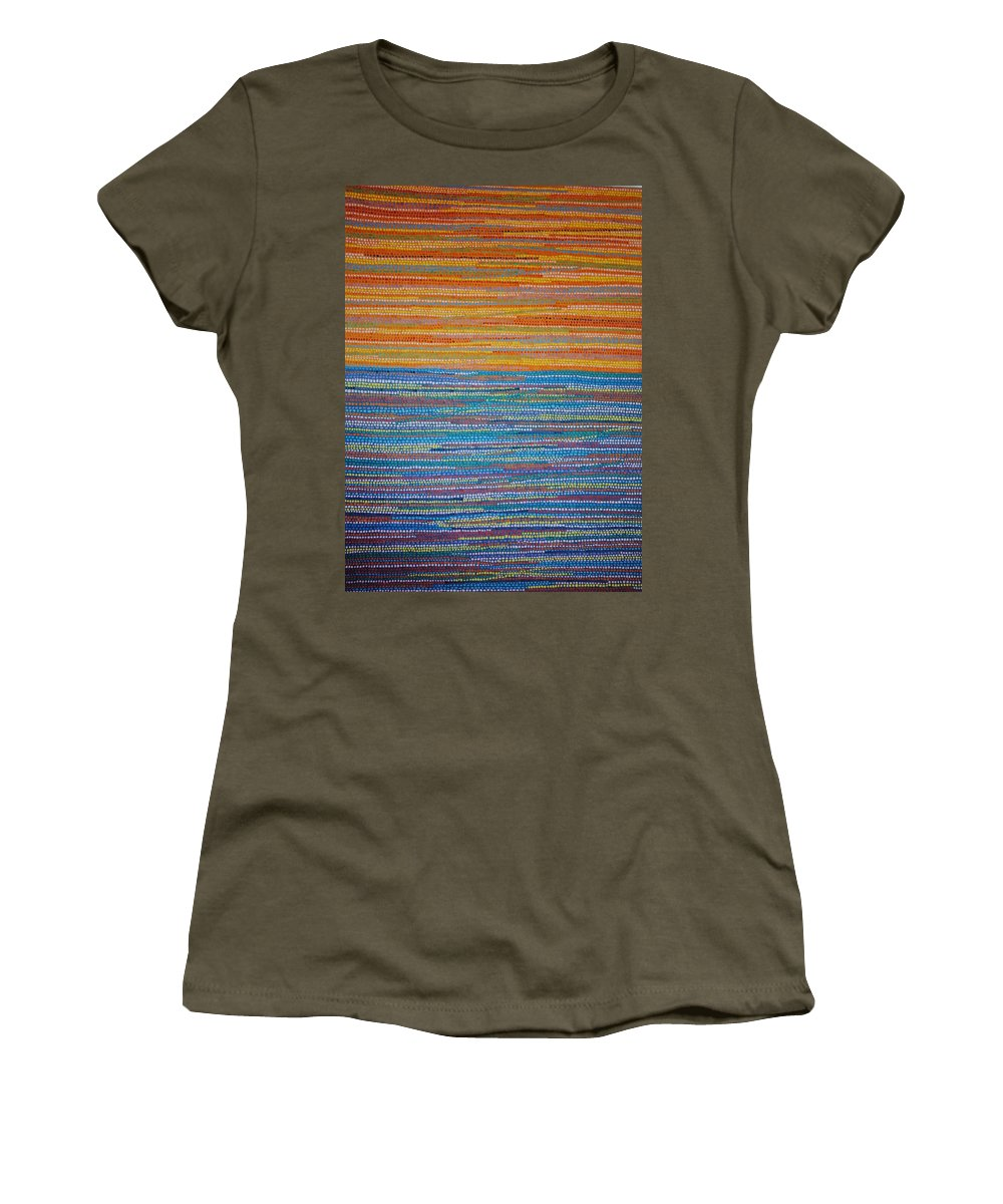 Inspirational Women's T-Shirt featuring the painting Identity by Kyung Hee Hogg