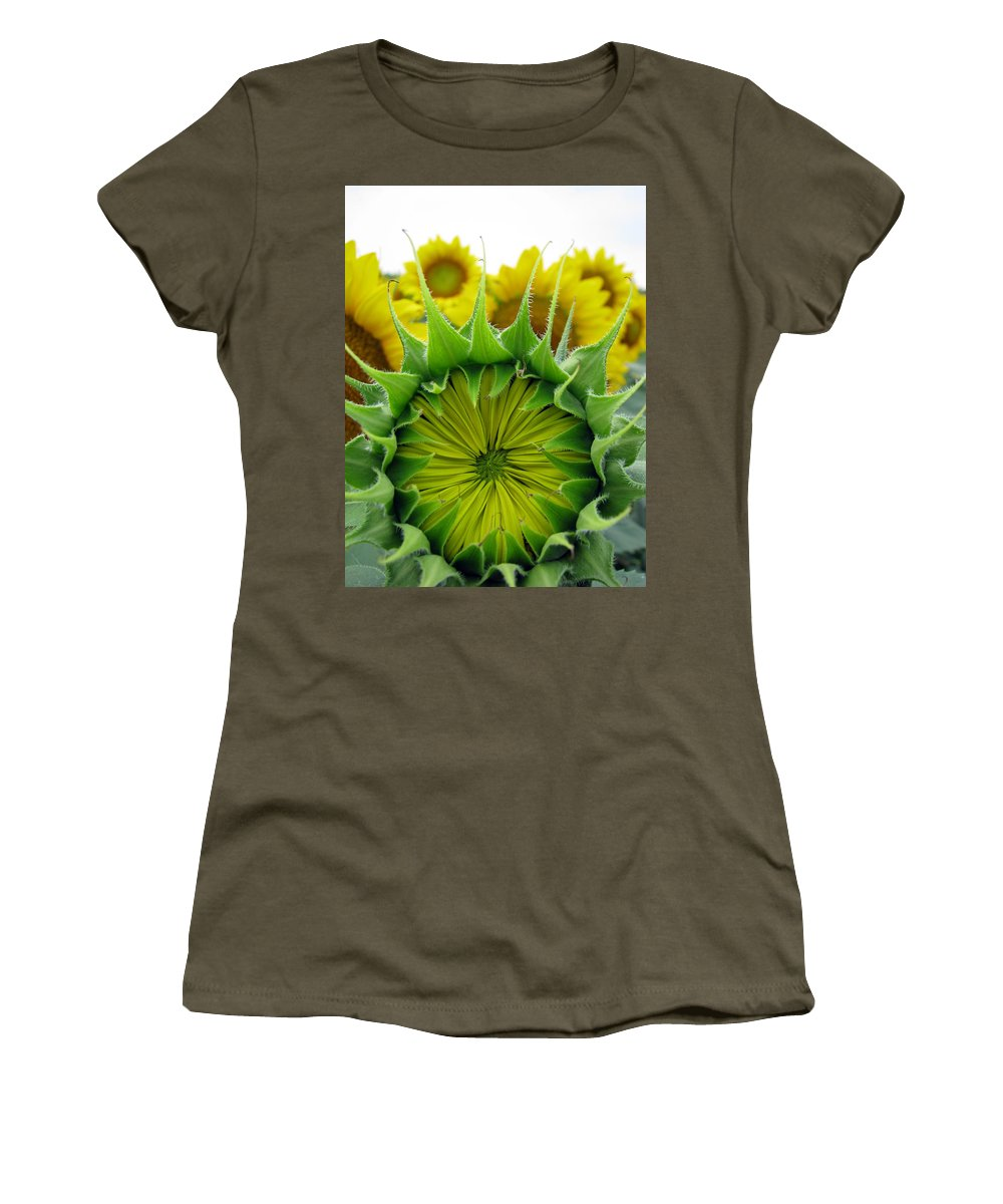 Sunflwoers Women's T-Shirt featuring the photograph Sunflower Series by Amanda Barcon