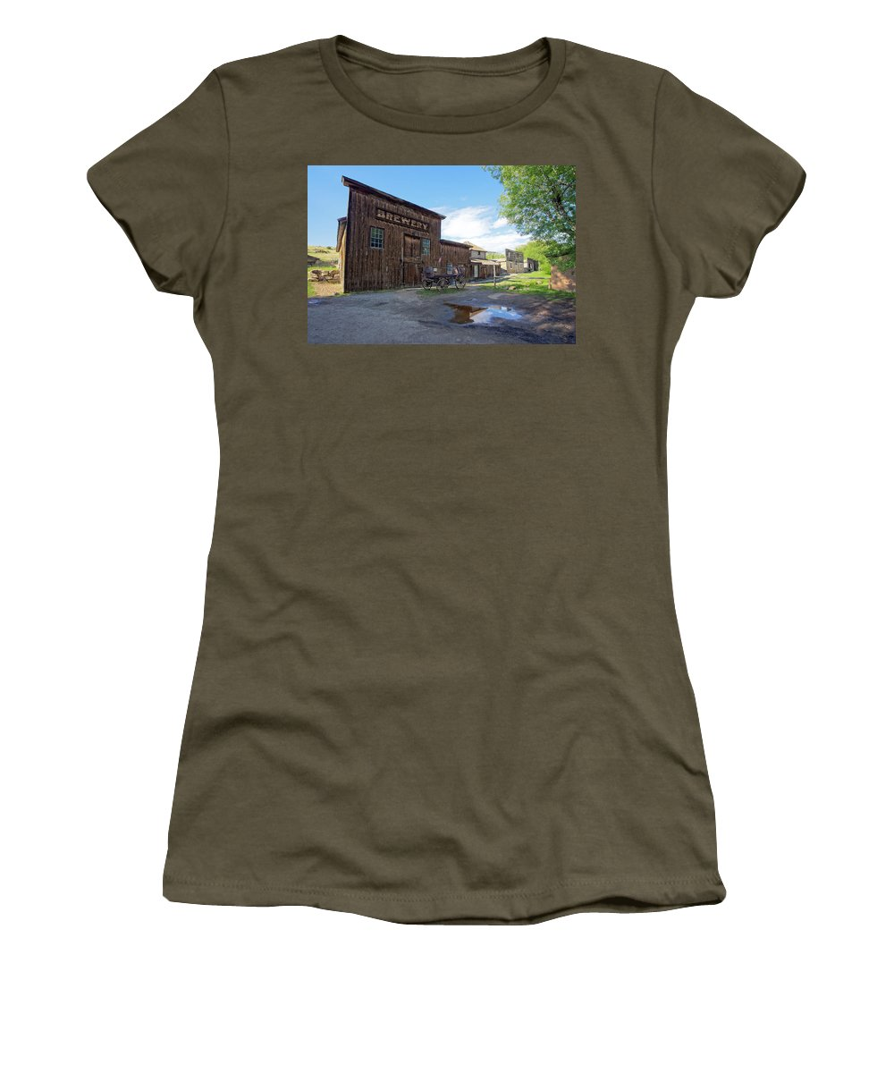 Brewery Women's T-Shirt featuring the photograph 1863 H. S. Gilbert Brewery - Virginia City Ghost Town by Daniel Hagerman