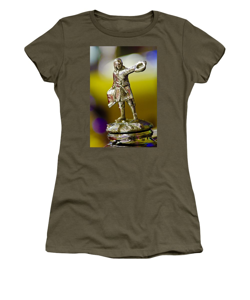 1930 Cadillac Lasalle Women's T-Shirt featuring the photograph 1930 Cadillac Lasalle Hood Ornament by Jill Reger