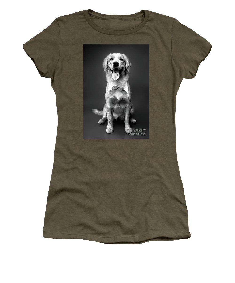 Golden Retriever Women's T-Shirt featuring the photograph Golden Retriever by Oleksiy Maksymenko