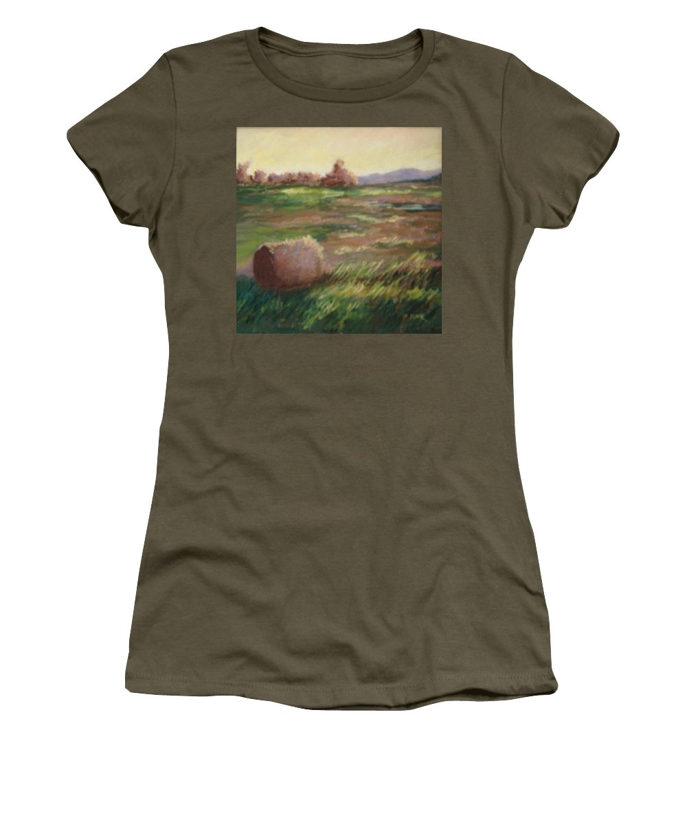 Women's T-Shirt (Athletic Fit) featuring the pastel Hey There by Pat Snook
