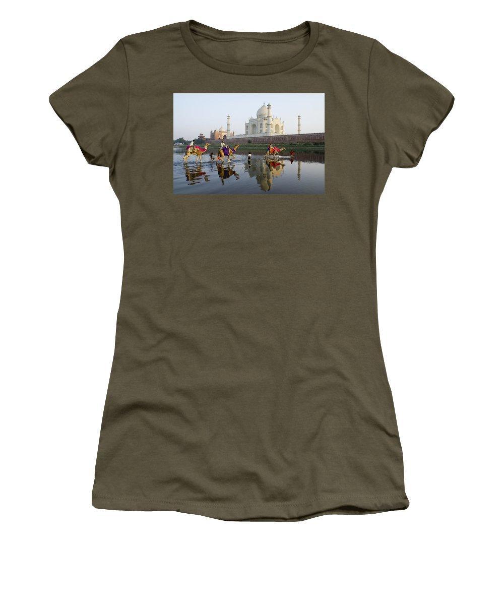 Taj Mahal Women's T-Shirt featuring the photograph India's Taj Mahal by Michele Burgess