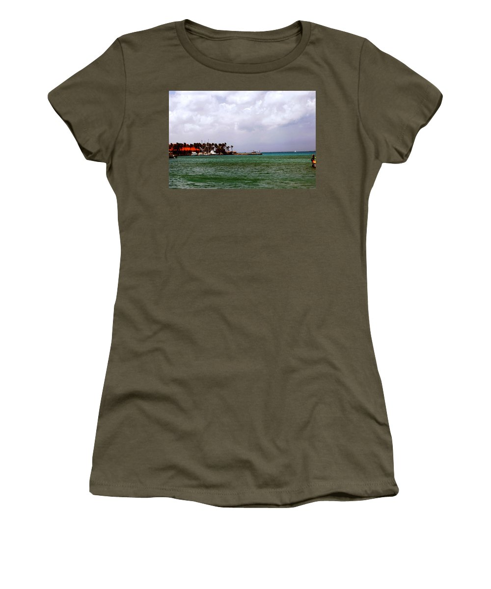 Harbor Women's T-Shirt featuring the photograph Island Harbor by Gary Wonning