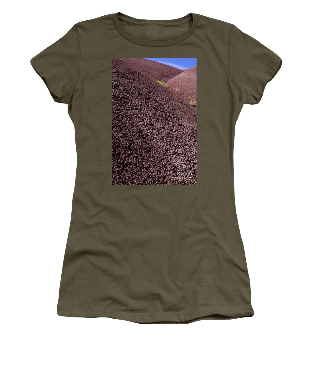 Pacific Northwest Women's T-Shirt (Athletic Fit) featuring the photograph John Day Fossil Beds by Jim Corwin