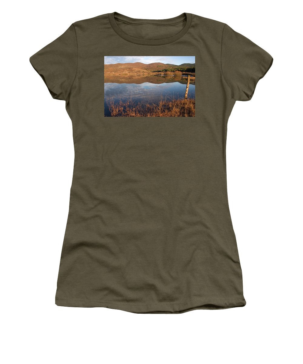 Seasonal Women's T-Shirt (Athletic Fit) featuring the photograph Palsko Lake by Ian Middleton