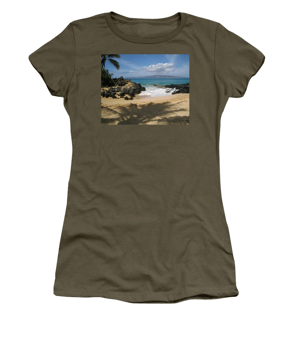 Tropical Women's T-Shirt (Athletic Fit) featuring the photograph Secret Cove by Angie Hamlin