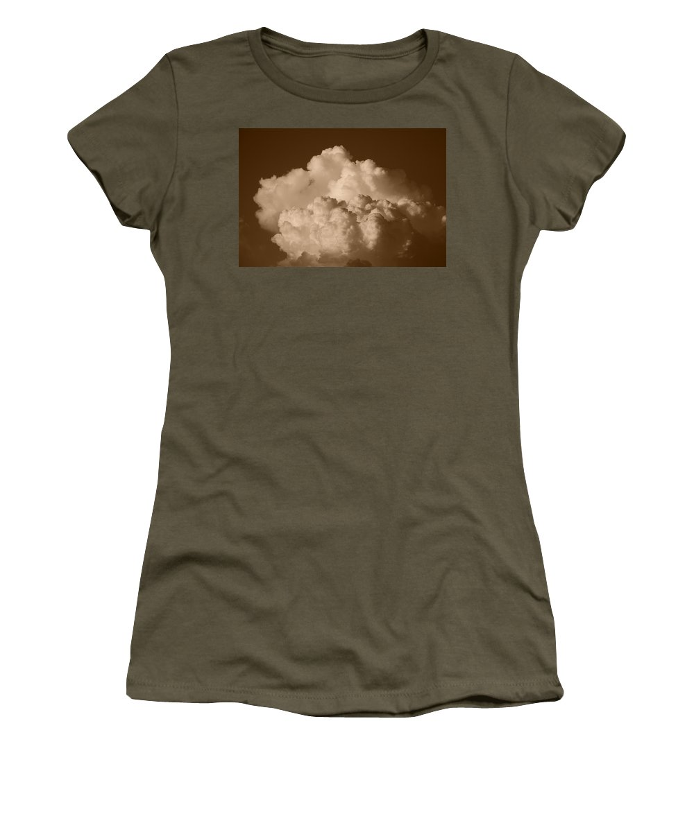 Sepia Women's T-Shirt featuring the photograph Sepia Clouds by Rob Hans