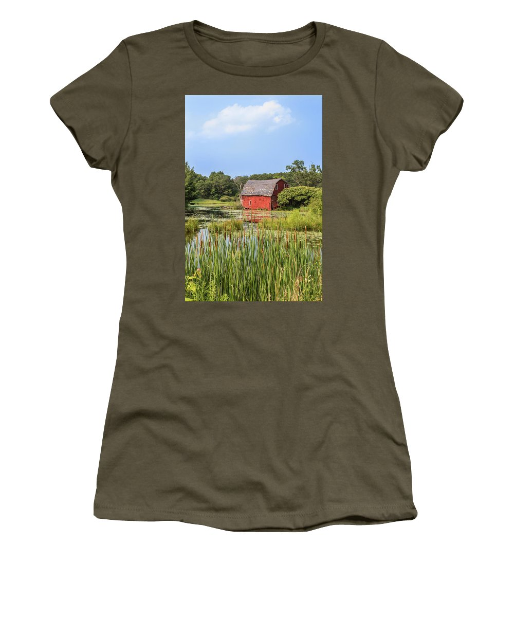 Barn Women's T-Shirt featuring the photograph Sinking Red Barn #6 by Patti Deters