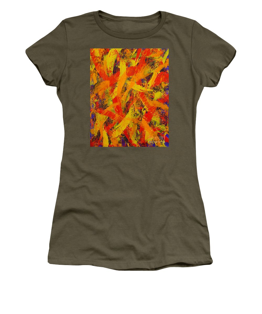 Abstract Women's T-Shirt featuring the painting Untitled by Dean Triolo