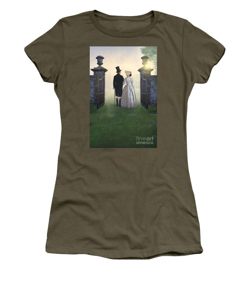 Victorian Women's T-Shirt (Athletic Fit) featuring the photograph Victorian Couple by Lee Avison