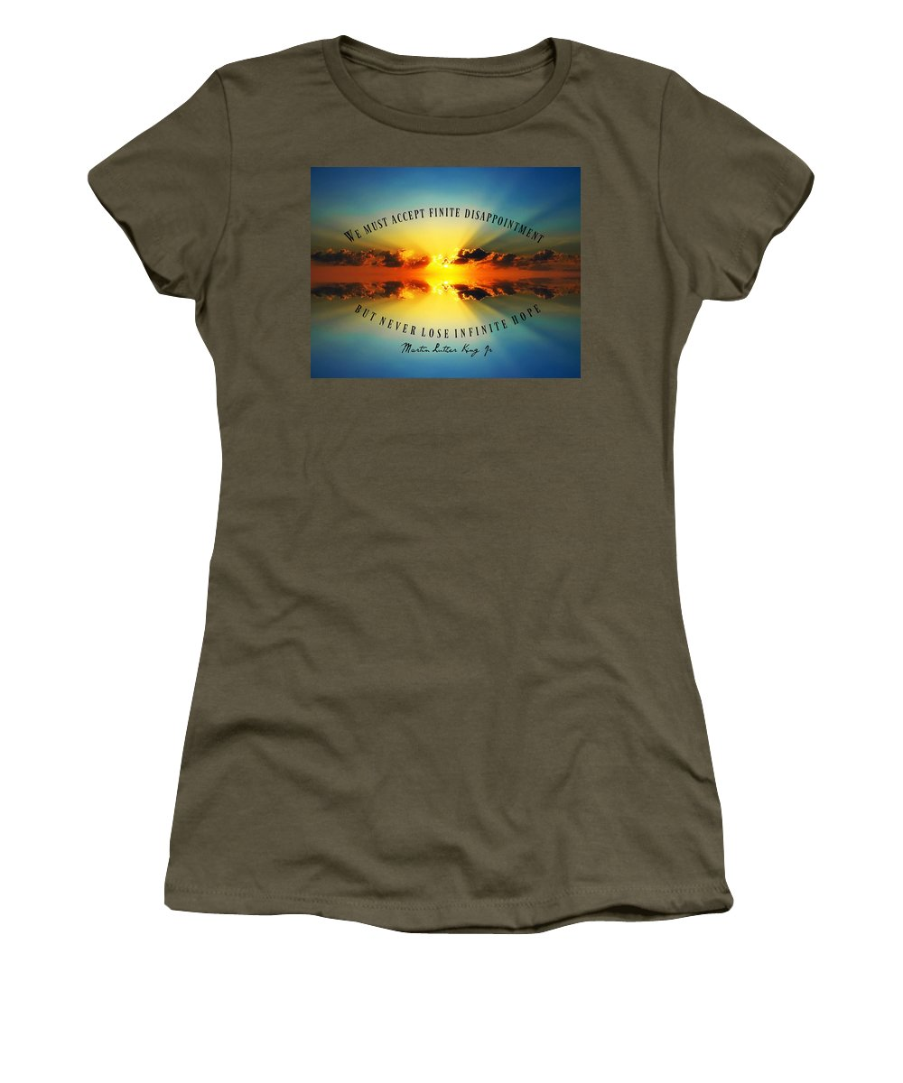 Women's T-Shirt featuring the photograph 2018-5q by David Norman