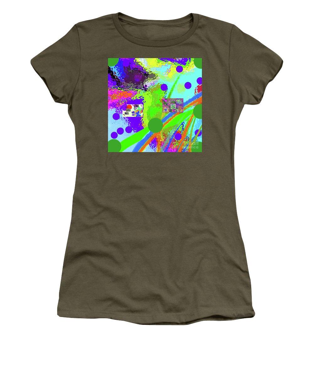 Walter Paul Bebirian Women's T-Shirt featuring the digital art 3-13-2015labcdefgh by Walter Paul Bebirian
