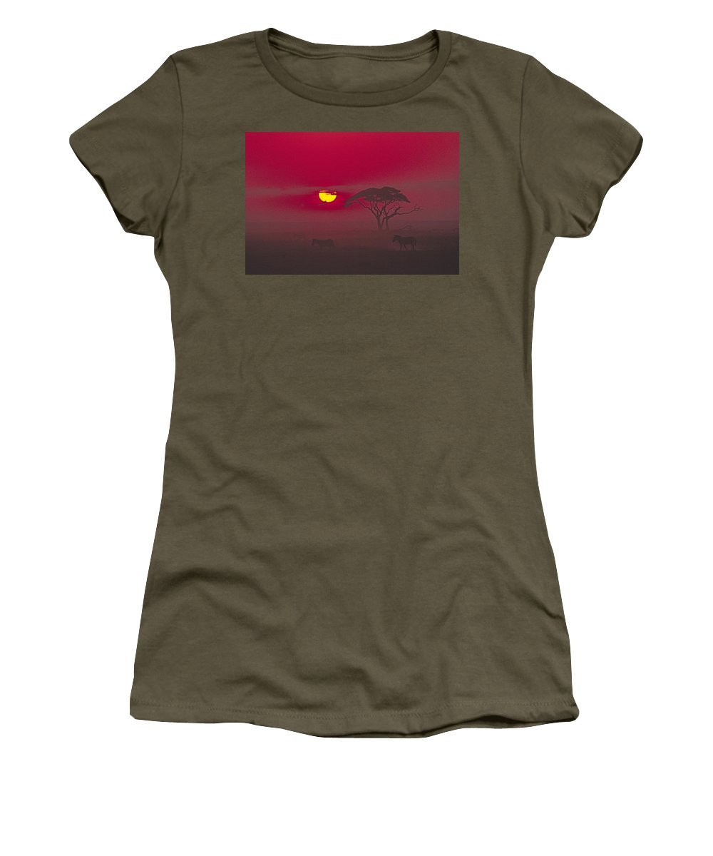 Africa Women's T-Shirt featuring the photograph African Sunrise by Michele Burgess