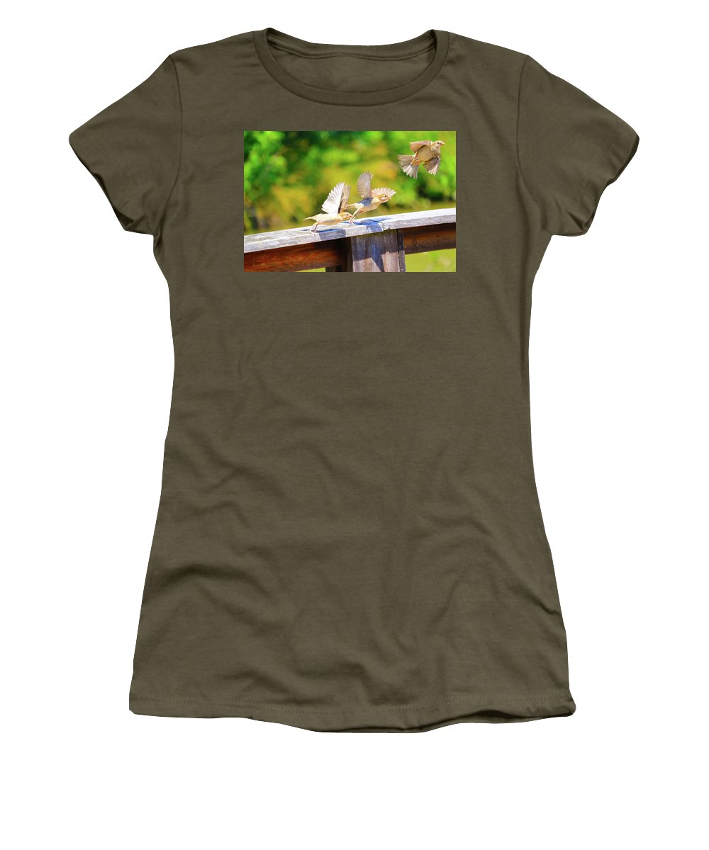 Women's T-Shirt featuring the photograph 3 Amigos by Tony Umana