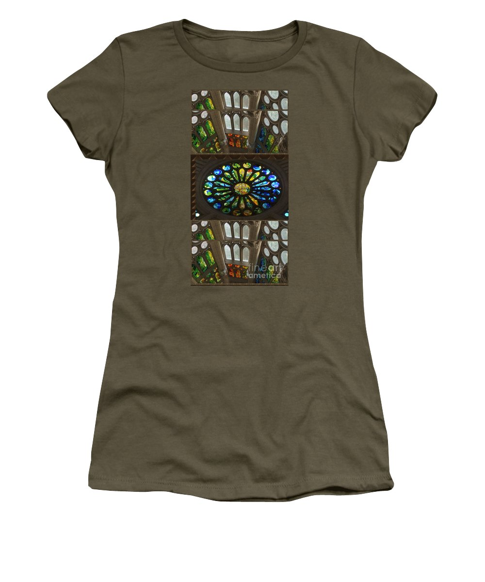 Church Women's T-Shirt featuring the mixed media Graphic Art From Photo Library Of Photographic Collection Of Christian Churches Temples Of Place Of by Navin Joshi