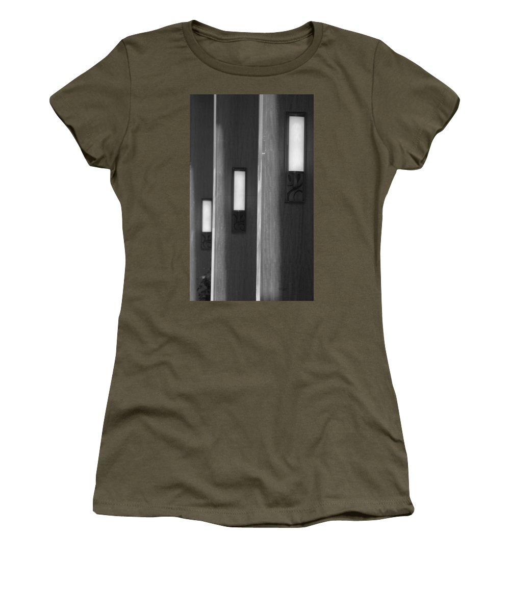 Sconce Women's T-Shirt (Athletic Fit) featuring the photograph 3 Lighted Wall Sconce by Rob Hans
