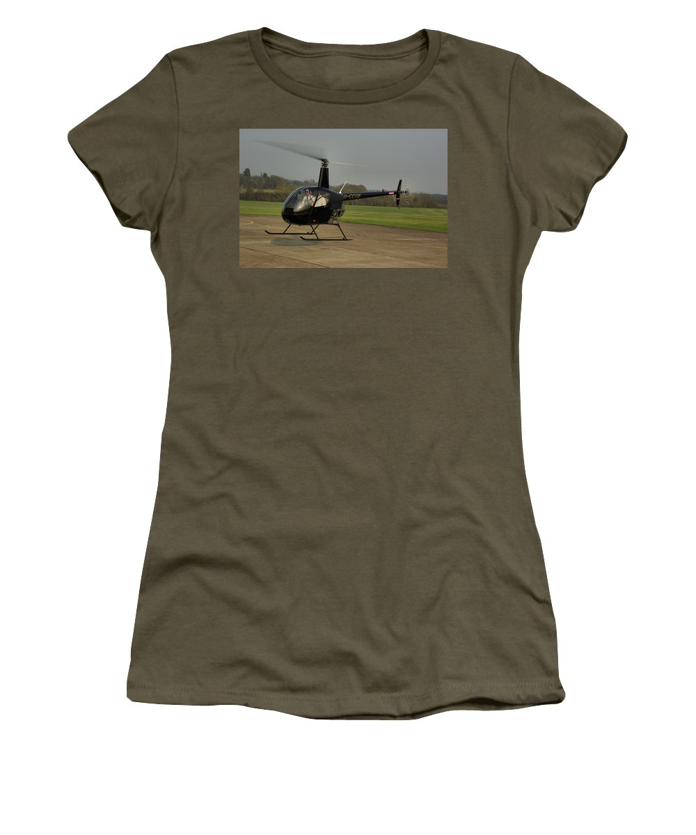 Student Women's T-Shirt featuring the photograph Robinson R22 Beta by Tim Beach