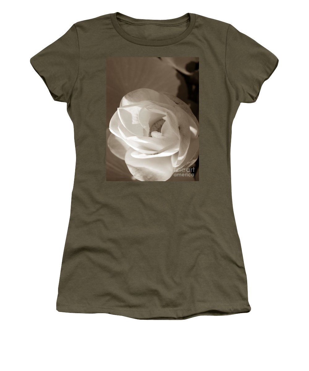Lotus Women's T-Shirt featuring the photograph Softly by Amanda Barcon