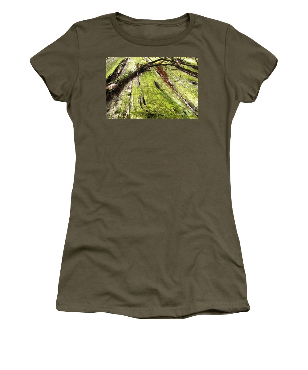 Texture Women's T-Shirt (Athletic Fit) featuring the photograph Texture Series by Amanda Barcon