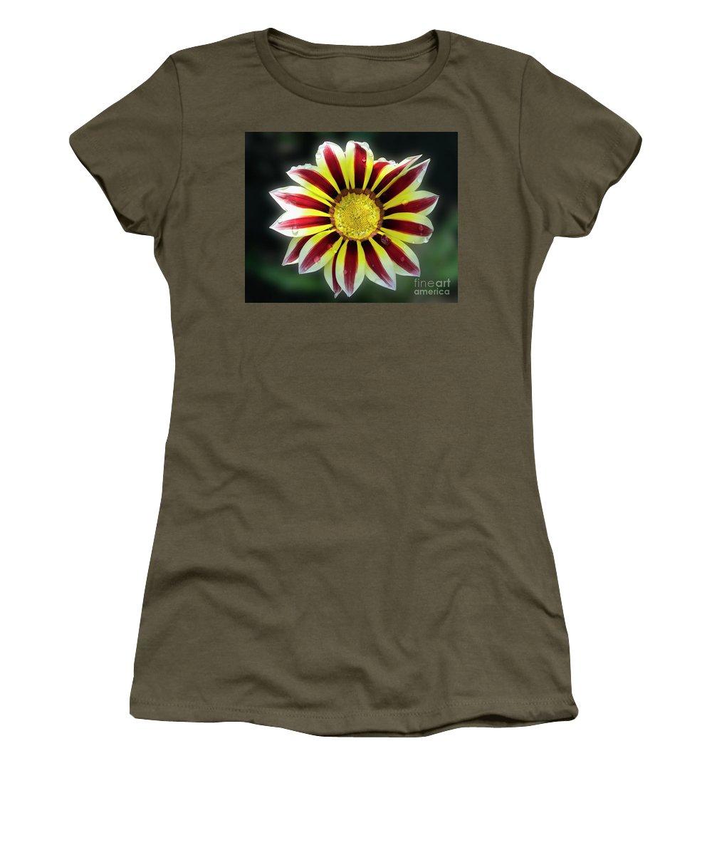 Flowers Women's T-Shirt featuring the photograph Beautiful Gazania by Elvira Ladocki