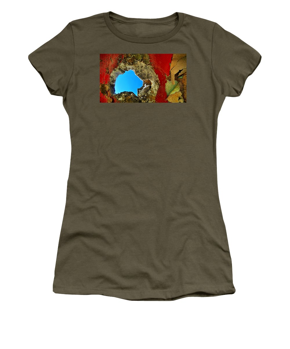 Abstract Women's T-Shirt featuring the photograph 377 At 41 Series 4 by Skip Hunt