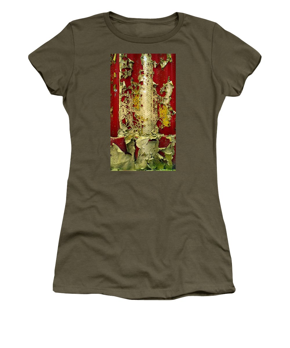 Abstract Women's T-Shirt (Athletic Fit) featuring the photograph 377 At 41 Series 5 by Skip Hunt