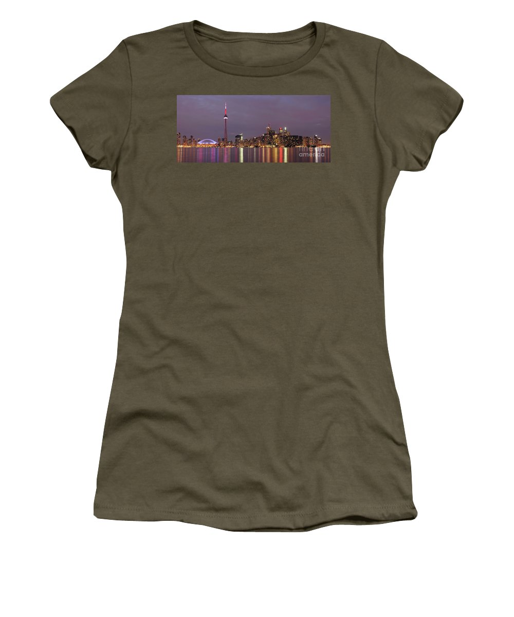 Toronto Women's T-Shirt featuring the photograph The City Of Toronto by Oleksiy Maksymenko