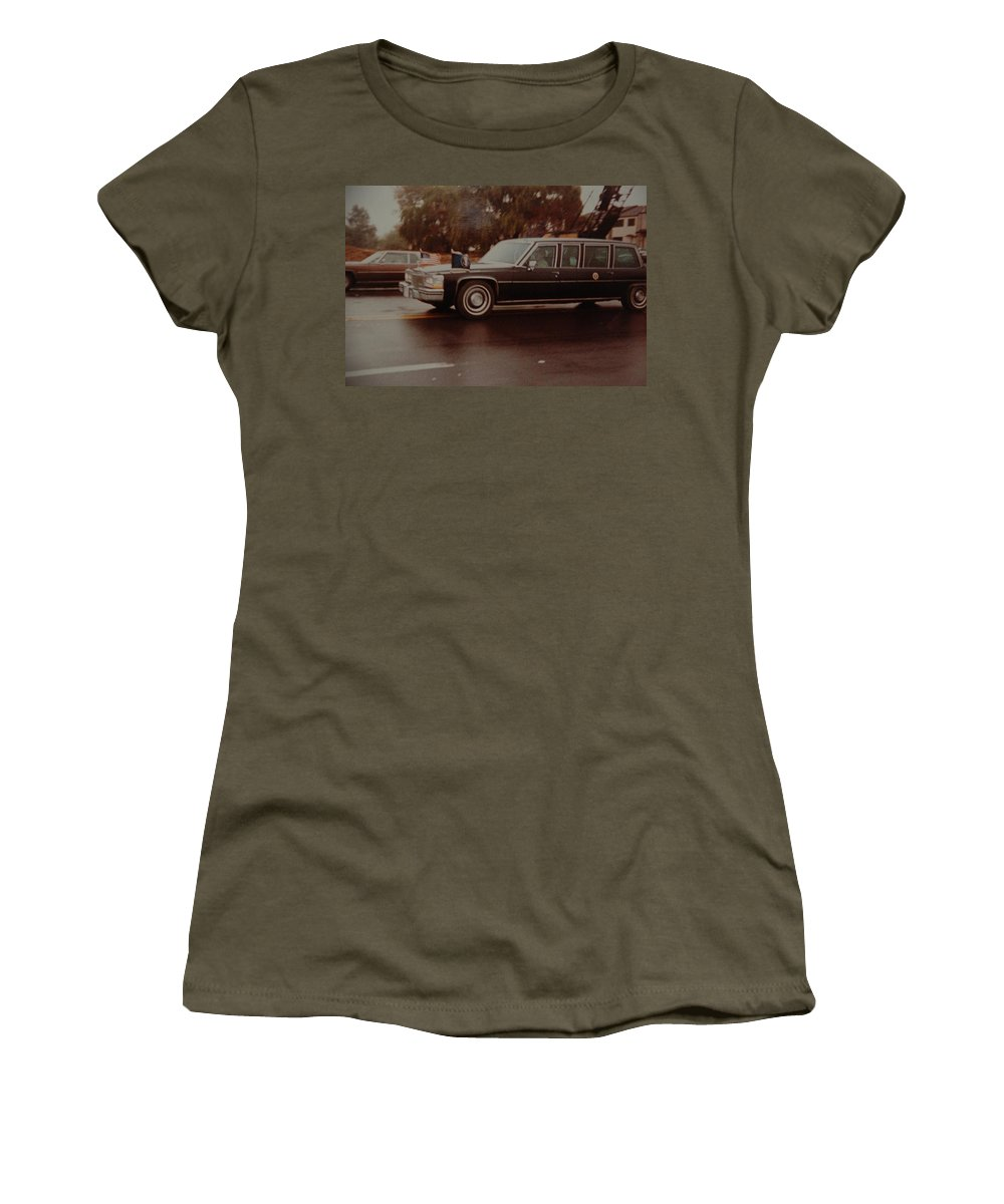 Potus Women's T-Shirt featuring the photograph 40th In Valley Stream New York by Rob Hans