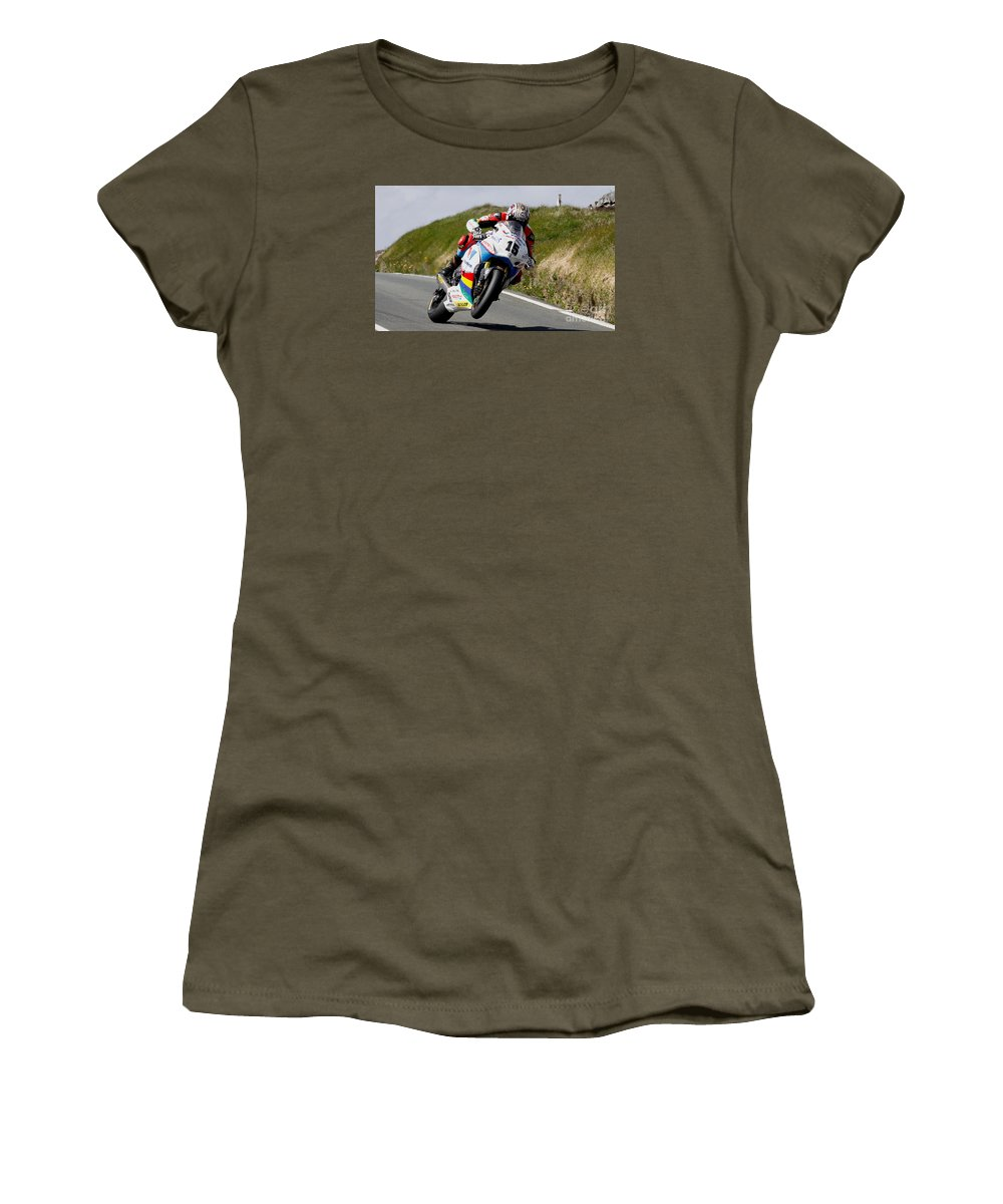Motorbikes Women's T-Shirt featuring the photograph Dan Kneen by Richard Norton Church