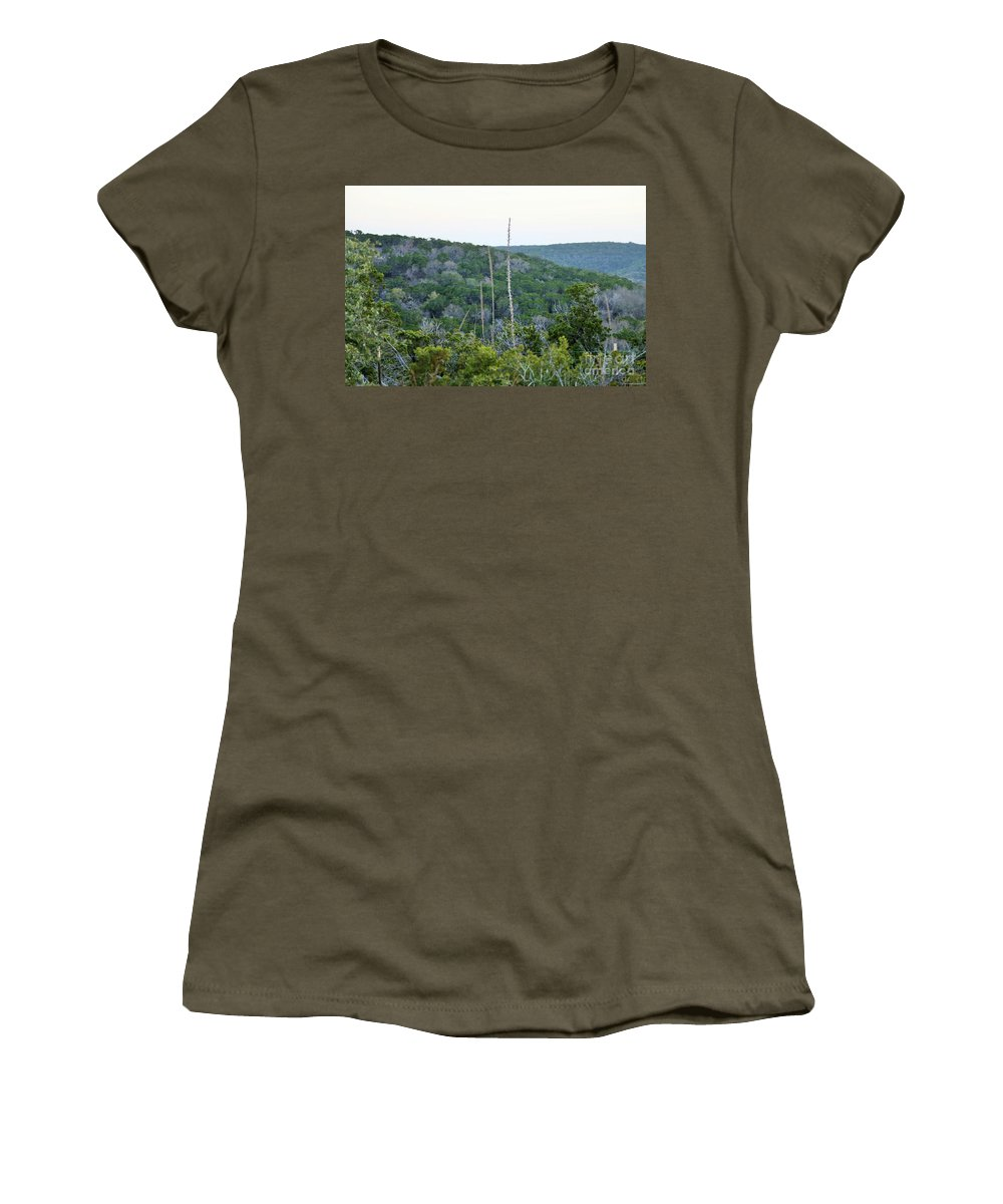 Women's T-Shirt featuring the photograph Hill Country by Jeff Downs