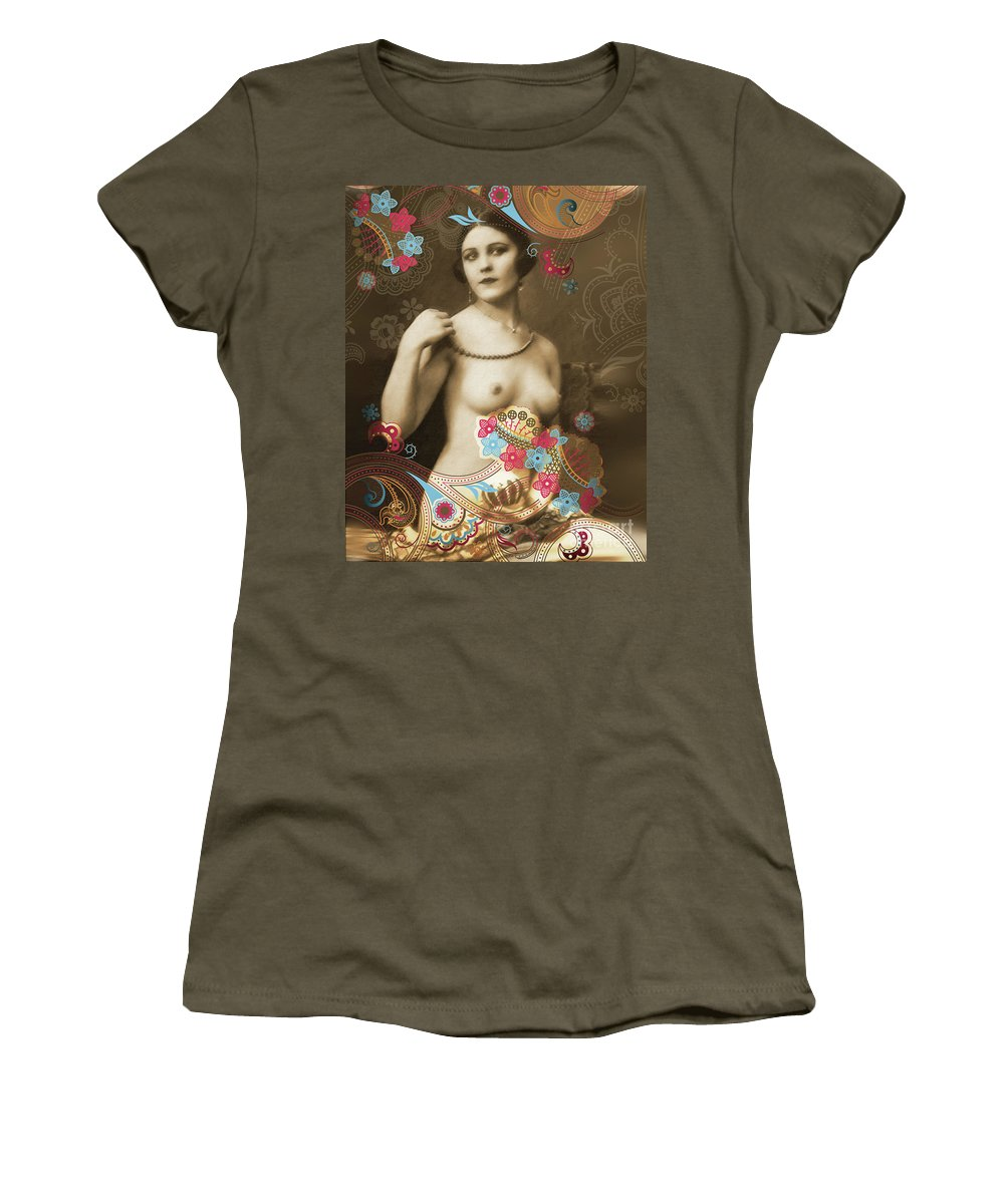 Nostalgic Seduction Women's T-Shirt (Athletic Fit) featuring the photograph Goddess by Chris Andruskiewicz