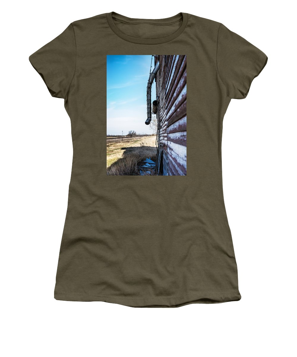 Grain Elevator Women's T-Shirt featuring the photograph Vintage Grain Elevator by Donald Erickson