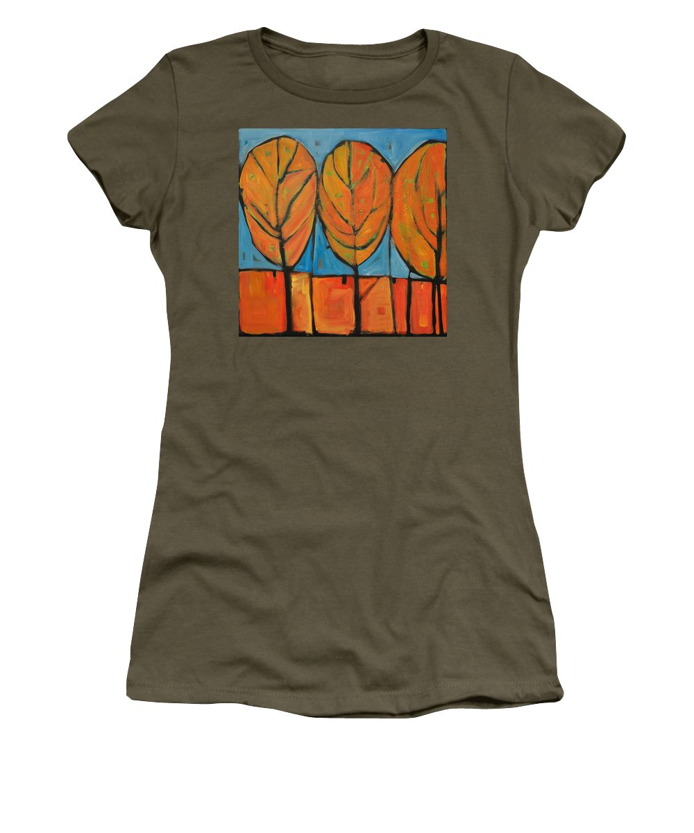 Fall Women's T-Shirt featuring the painting A Change Of Seasons by Tim Nyberg