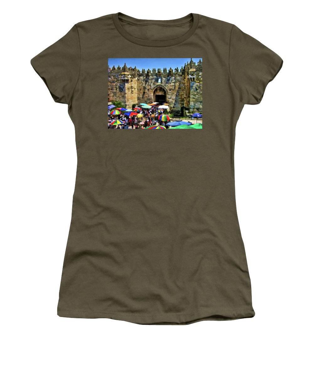 Gate Women's T-Shirt featuring the photograph A Day At The Bazaar by Douglas Barnard