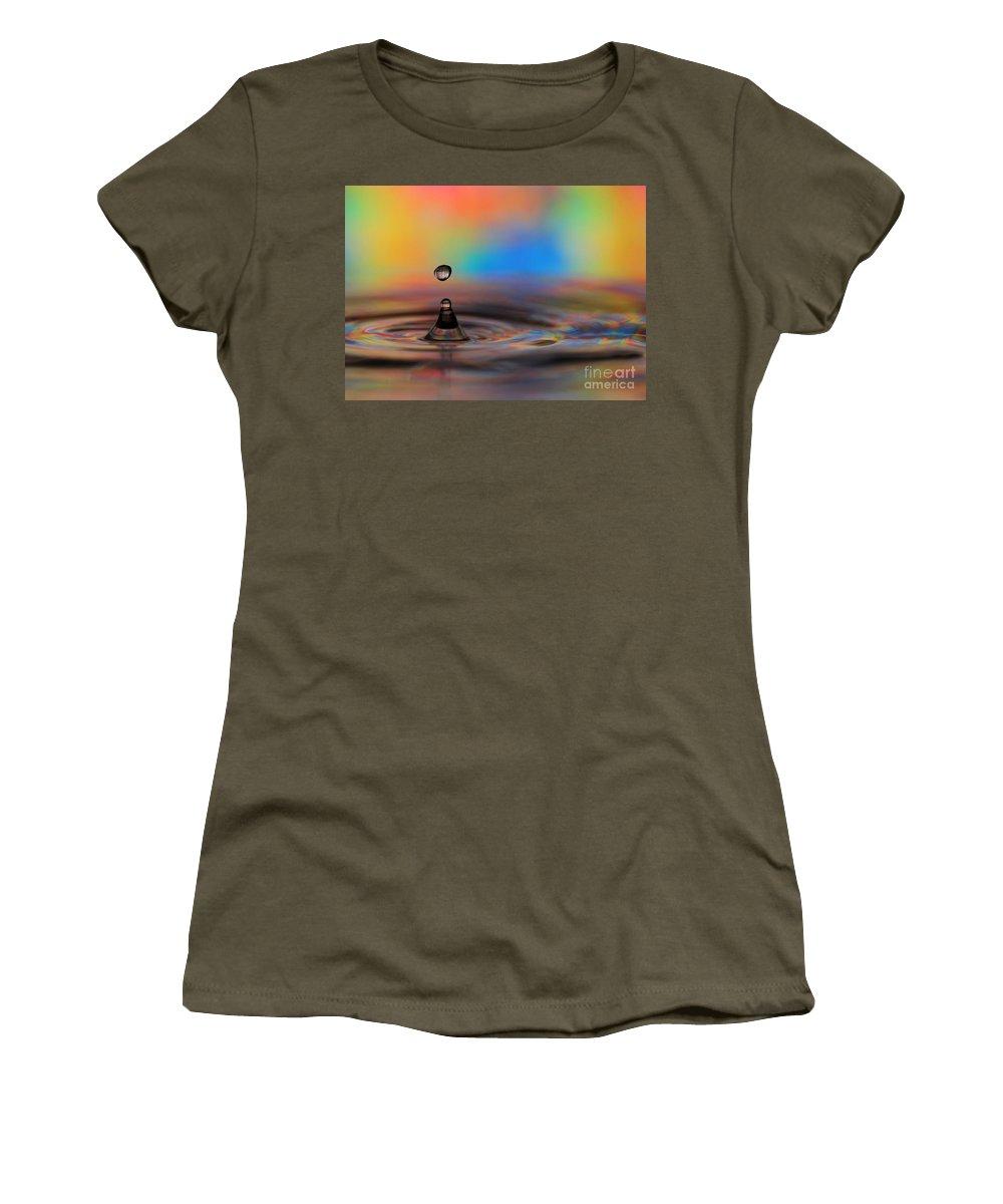 Drop Women's T-Shirt featuring the photograph A Drop by Sabrina L Ryan