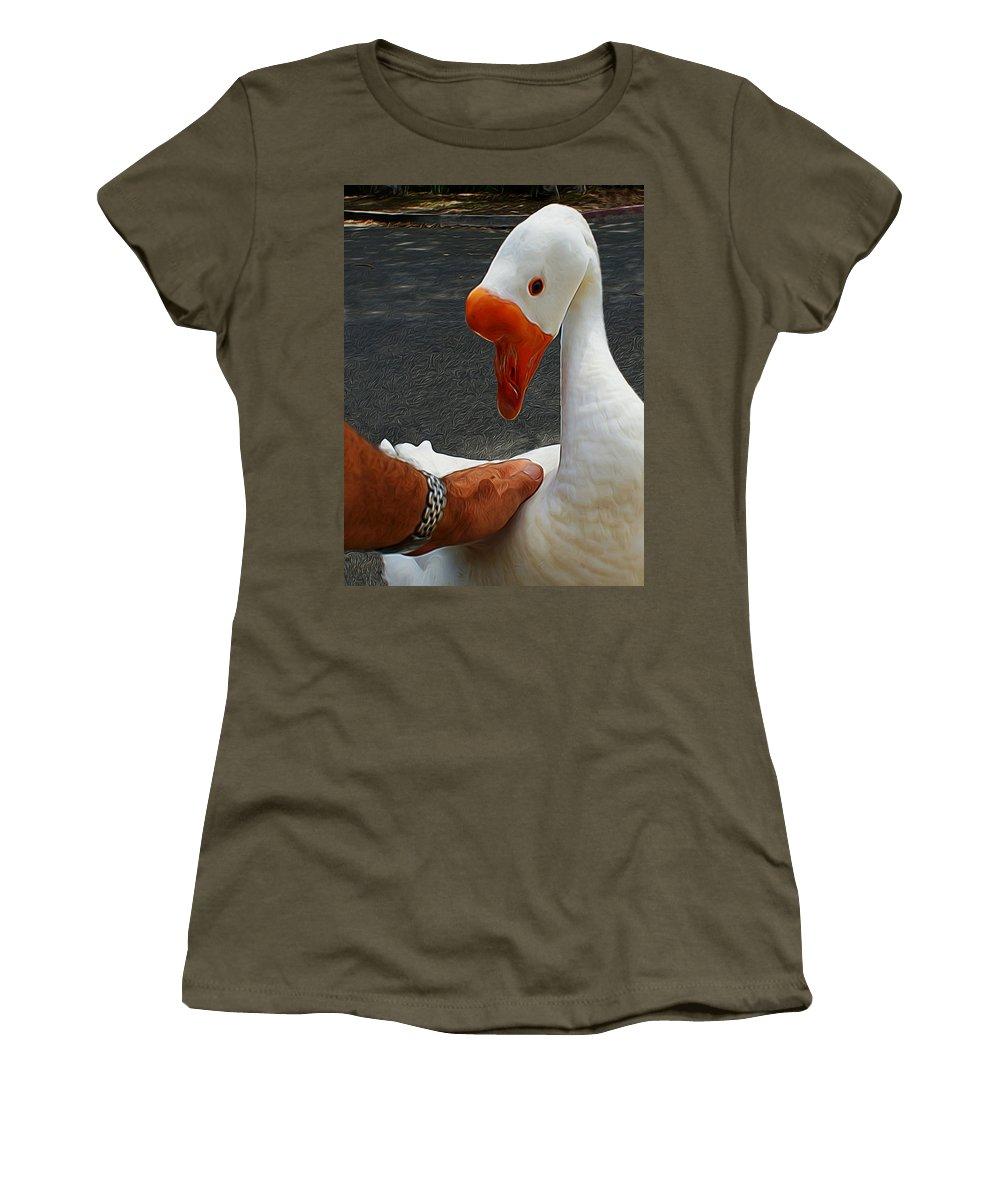 Birds Women's T-Shirt featuring the digital art A Magical Moment Digital Art by Ernie Echols