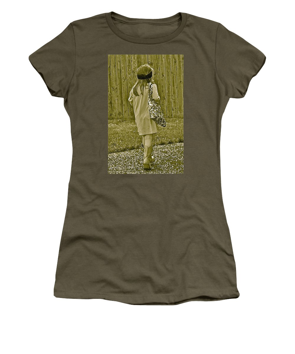 Little Girl Women's T-Shirt featuring the photograph A Moment by Gwyn Newcombe