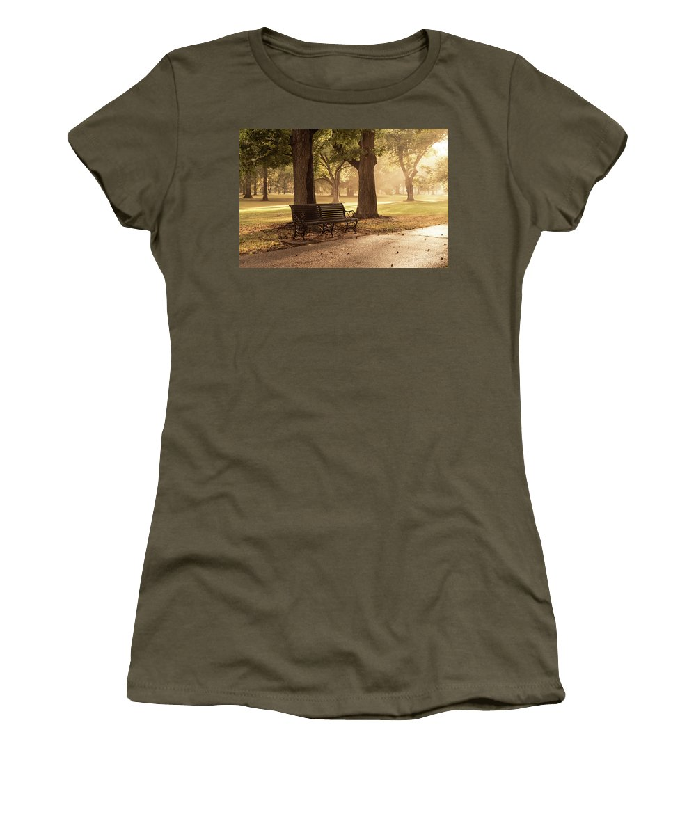 Tower Grove Women's T-Shirt featuring the photograph A Place To Rest by Scott Rackers