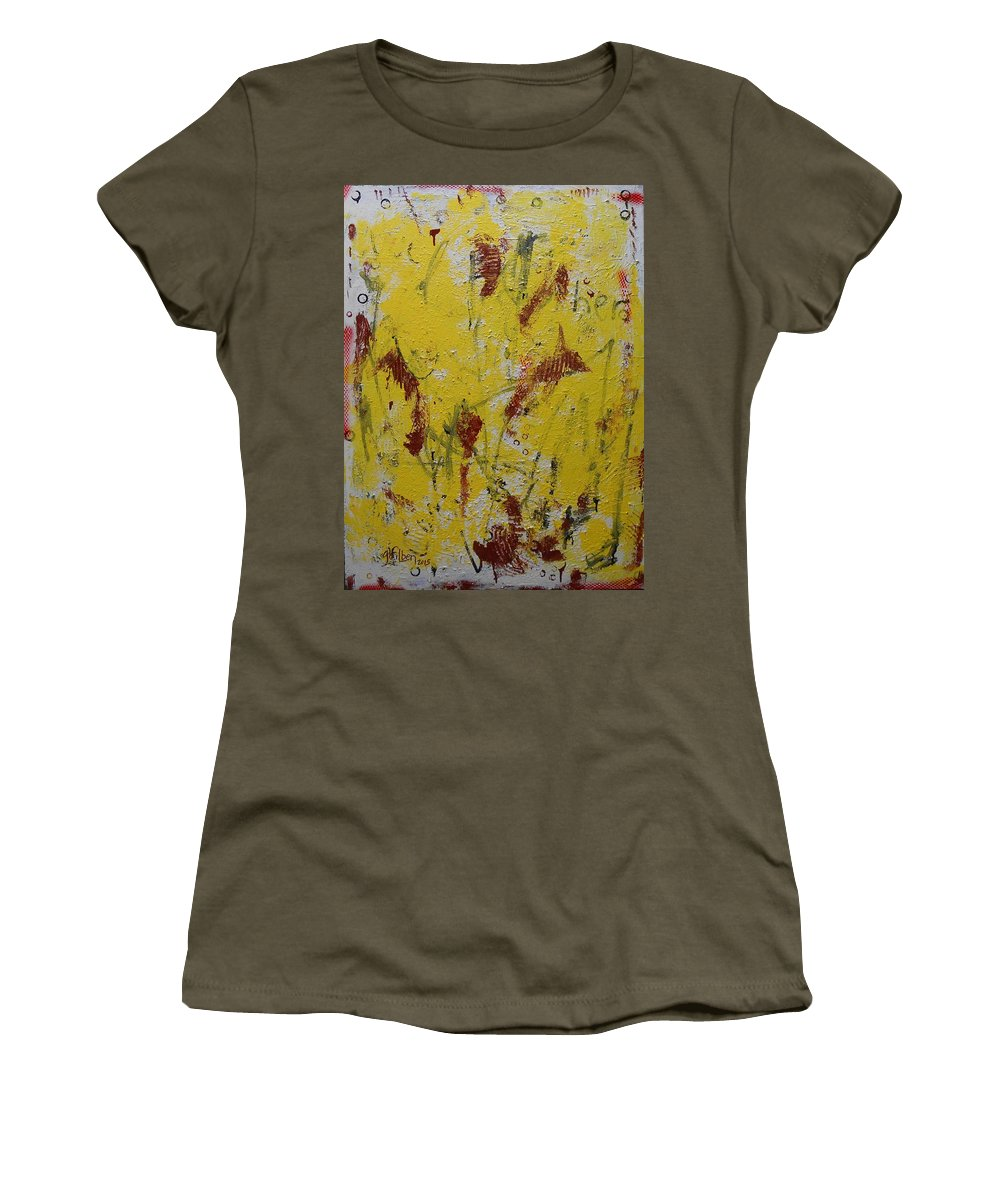 Abstract Women's T-Shirt featuring the painting A Second Look by Gh FiLben
