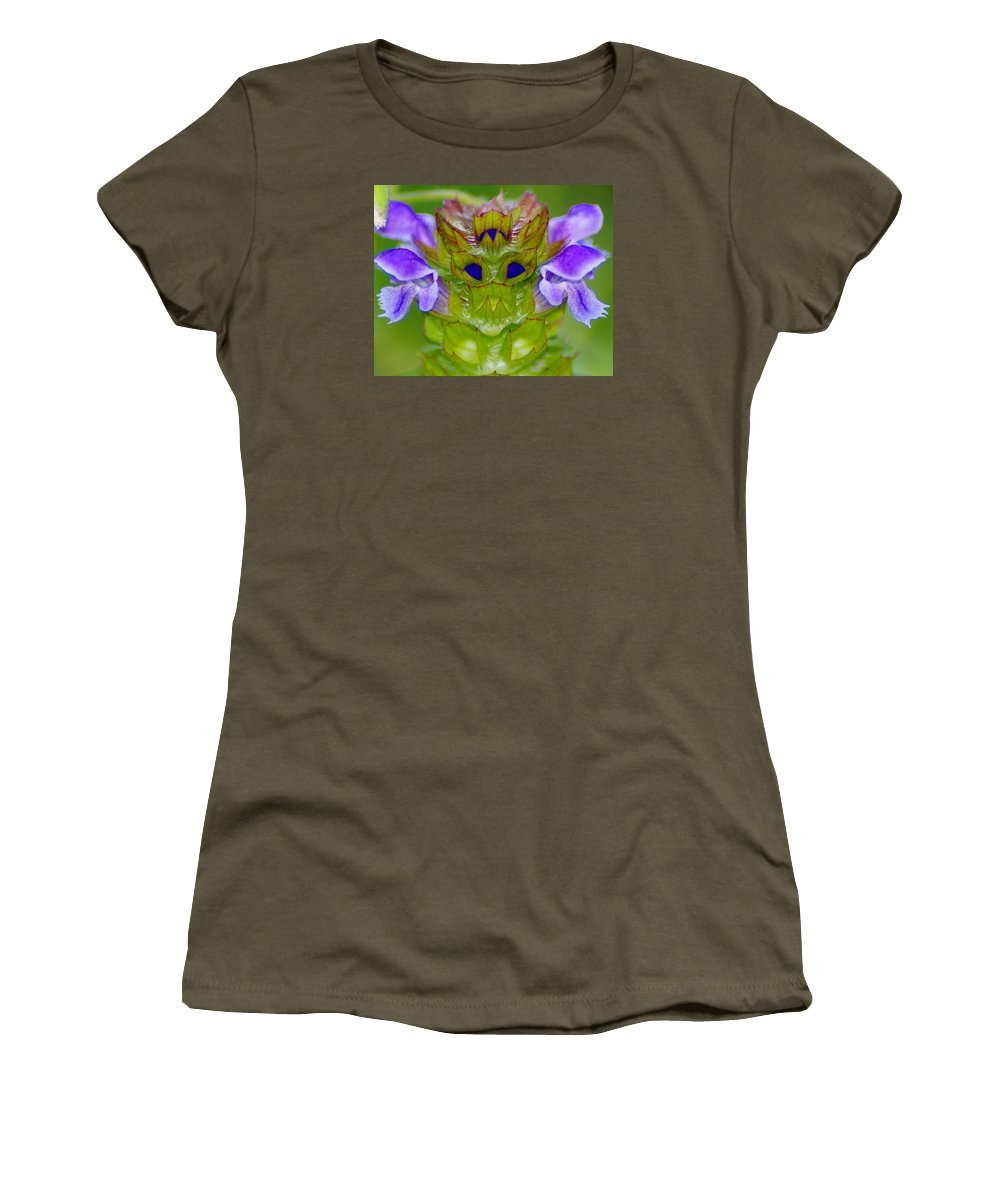 Flowers Women's T-Shirt featuring the photograph A Tiny Flower King by Ben Upham III