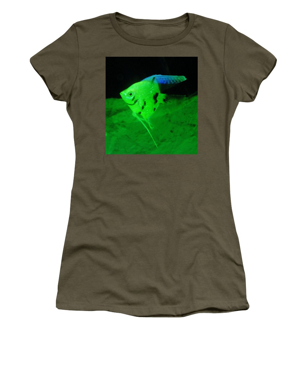 Fish Women's T-Shirt featuring the photograph A Yellow Fish by Jeff Swan