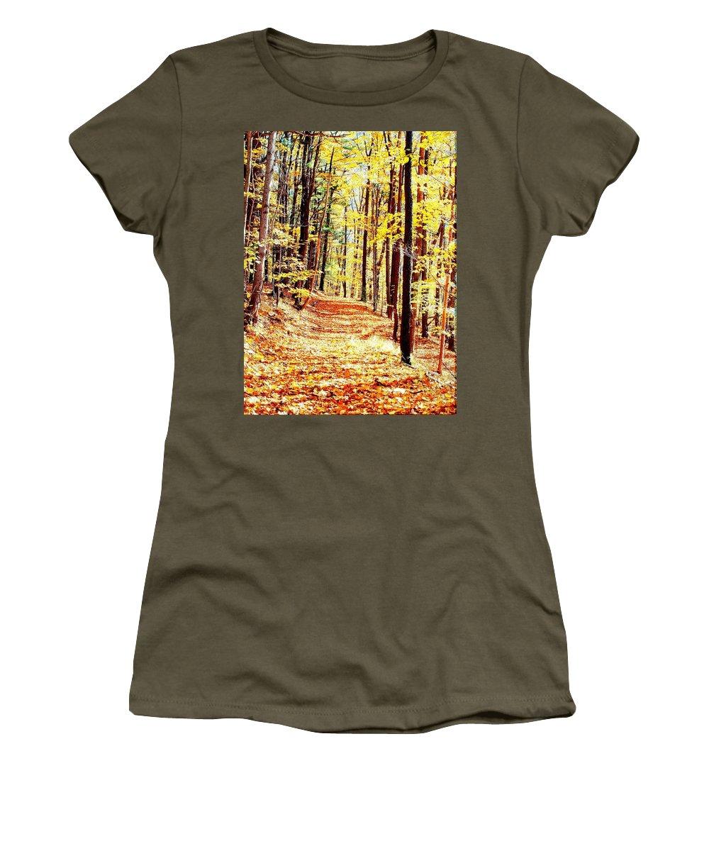 Autumn Women's T-Shirt featuring the photograph A Yellow Wood by Joshua House