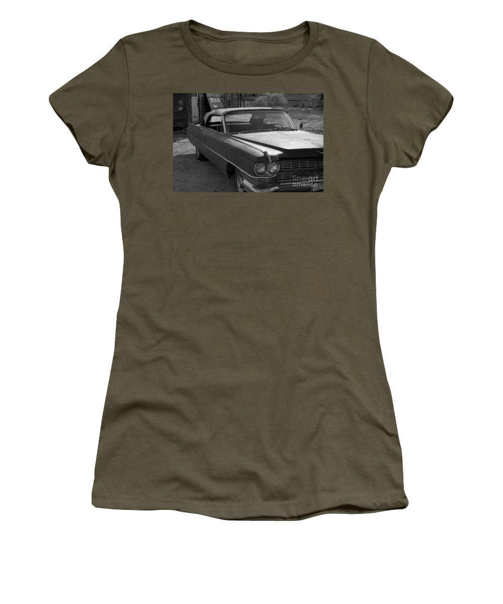 Cadillac Women's T-Shirt featuring the photograph Abandoned Classic by Richard Rizzo