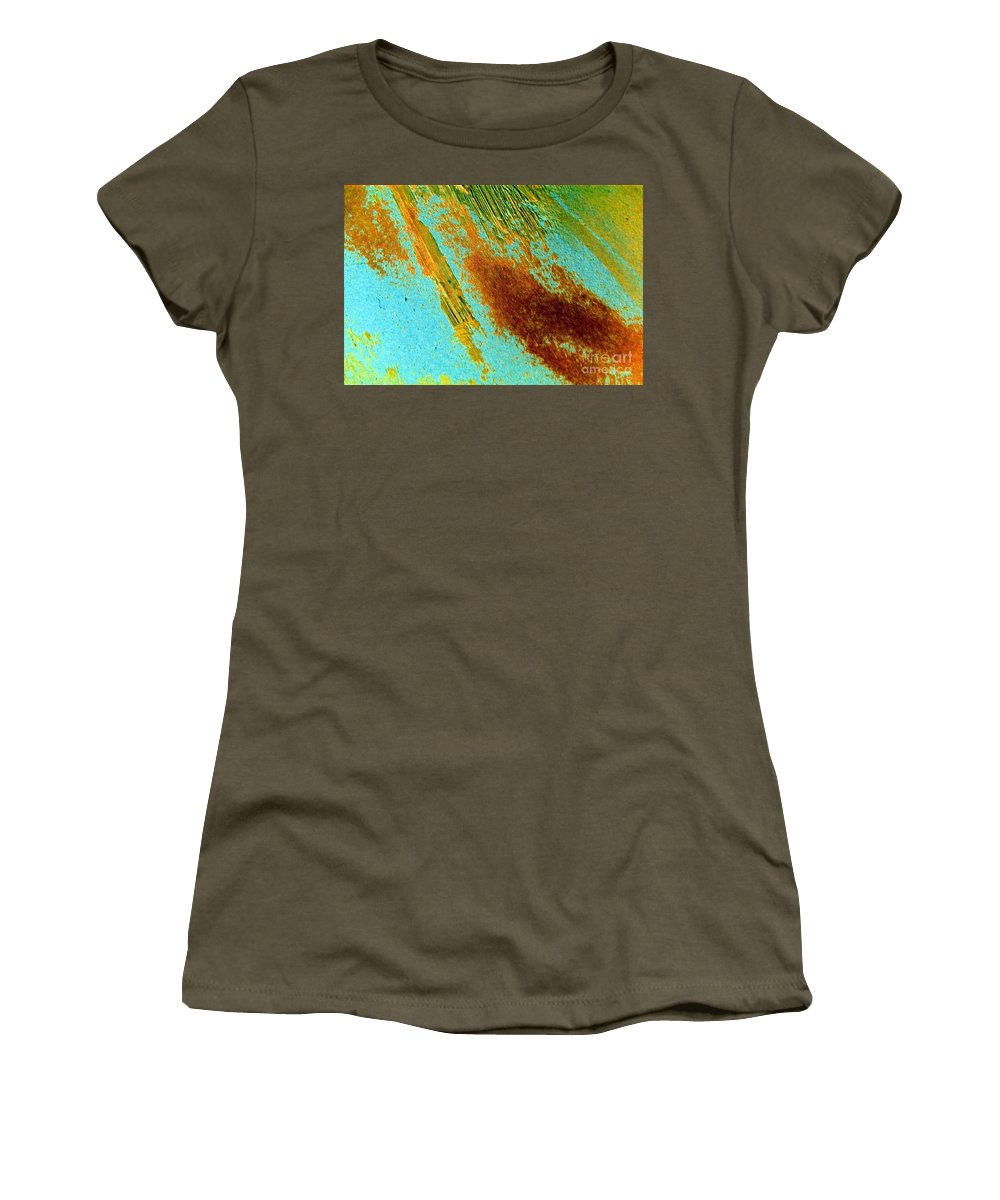 Abandoned Women's T-Shirt featuring the painting Abandoned by Dawn Hough Sebaugh