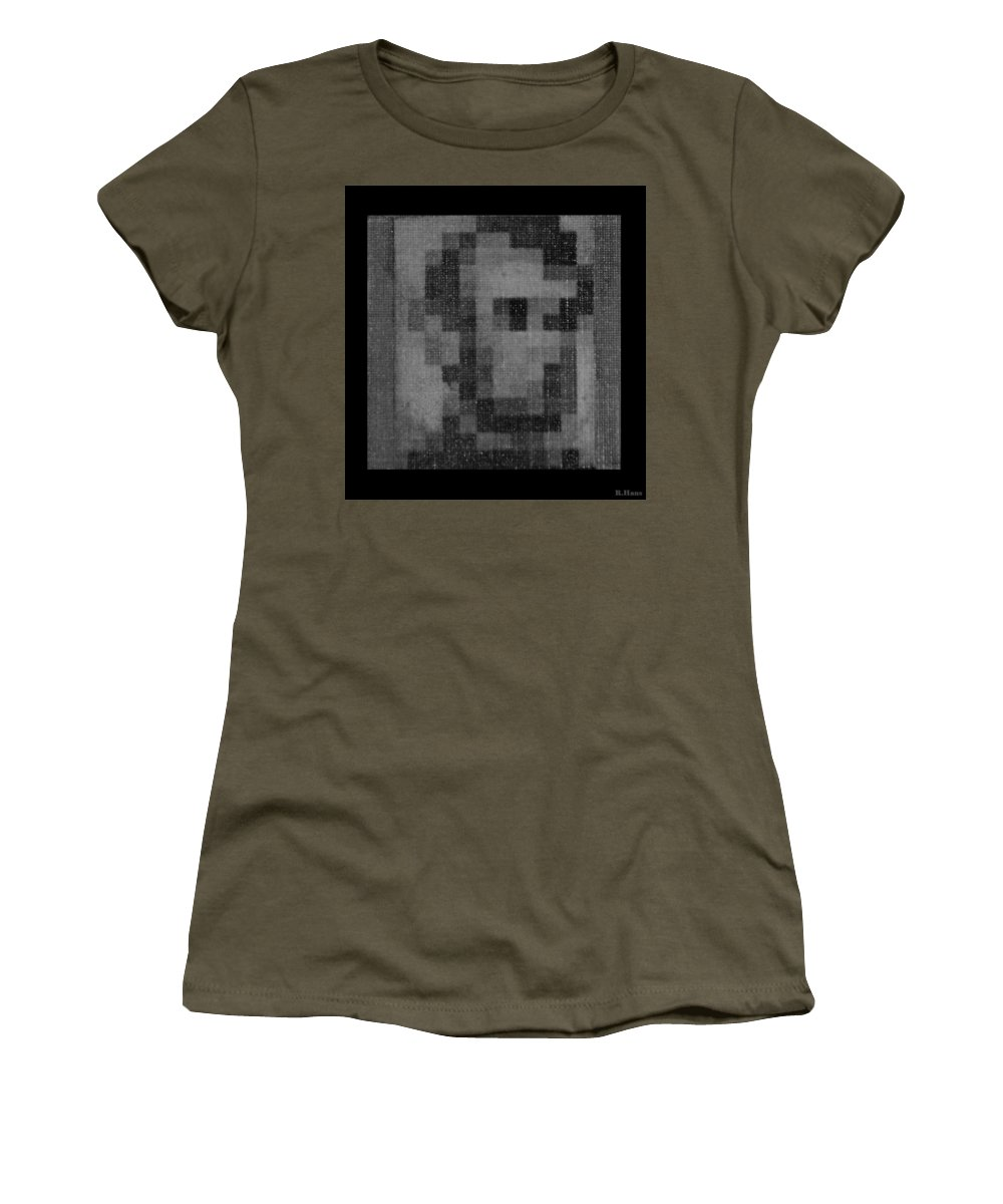Black And White Women's T-Shirt featuring the photograph Abe In Black And White by Rob Hans