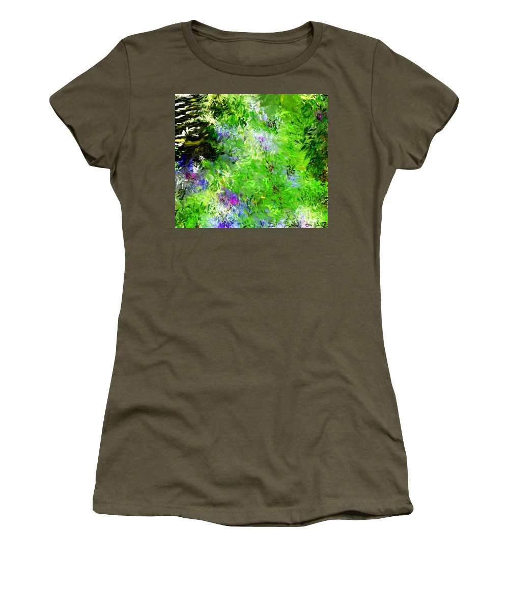 Abstract Women's T-Shirt (Athletic Fit) featuring the digital art Abstract 5-26-09 by David Lane