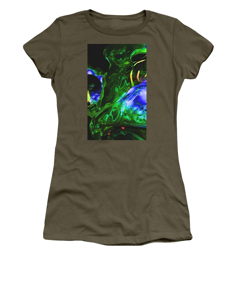 Abstract Women's T-Shirt (Athletic Fit) featuring the digital art Abstract 7-25-09-1 by David Lane